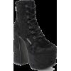 Killstar Hell-O velvet platform boots - Boots - £119.99  ~ $157.88