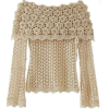 Knitted Blouse - Pullovers -
