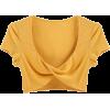 Knot Nightclub Short Cropped Navel T-Shi - Shirts - $15.99