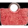 Knotty Straw Top Handle Bag - Hand bag -