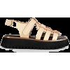 LABUCQ neutral & black sandal - Sandali -