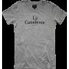 LA CANADIENNE heather grey t-shirt - T-shirts -
