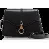 LANVIN black leather bag - ハンドバッグ -