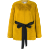 LANVIN faux fur belted jacket - Jacket - coats -