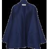 LANVIN navy silk cape jacket - Jacket - coats -