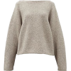 LAUREN MONNOGIAN neutral sweater - Pullovers -