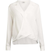 L'Agence Women's White Rita Blouse In Iv - Long sleeves shirts -