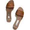 LEATHER CROSSOVER SANDALS - Loafers -
