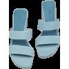 LEATHER HIGH HEEL SANDALS - Sandale -
