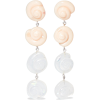 LEIGH MILLER Nautilus glass earrings - Kolczyki -
