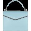 LES PETITS JOUEURS blue leather bag - Torebki -