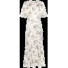 LES REVERIES floral print front slit sil - Kleider -