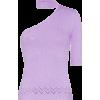LES REVERIES one-shouldered knitted mock - Рубашки - длинные -