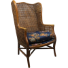 LEWITTES bamboo and cane wingback chair - Uncategorized -
