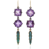 LFrank 18K Yellow Gold Amethyst And Tour - Kolczyki -