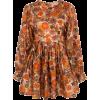 LHD dark orange floral mini dress - Vestiti -