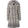 LISKA Valencia hooded fur coat - Jacket - coats -