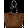 LOEWE Anagram-debossed suede tote bag - Hand bag -