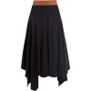 LOEWE Asymmetric leather-waist crepe ski - Skirts -