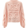 LOEWE Cabled-Anagram, mohair-blend sweat - Pullovers -