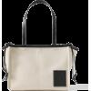 LOEWE Cushion small leather-trimmed canv - Kleine Taschen -