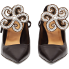 LOEWE Flower-brooch point-toe leather pu - Zapatos clásicos -