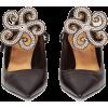 LOEWE Flower-brooch point-toe leather pu - Klasične cipele -