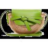 LOEWE  Gate Mini Leather And Raffia Cros - Hand bag -