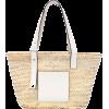 LOEWE Medium leather-trimmed basket tote - Hand bag -