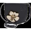 LOEWE Small Heel Metal Flower Leather Ba - Torbe s kopčom -