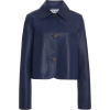 LOEWE navy leather jacket - Kurtka -