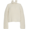 LOEWE white cropped cashmere pullover - Pullovers -