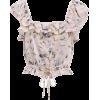 LOVESHACKFANCY Mia Floral Cropped Top - Koszule - krótkie -