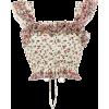 LOVESHACKFANCY Mia Ruffle Crop Top - Koszule - krótkie -