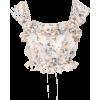 LOVESHACKFANCY floral silk crop top - Camicie (corte) -