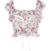 LOVESHACKFANCY floral silk crop top - Tunic -