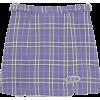 LUDE CHECK SKIRT - Skirts -