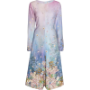 LUISA BECCARIA pink blue floral dress - 连衣裙 -