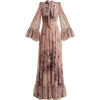 LUISA BECCARIA  Pussy-bow floral-print g - Vestidos -