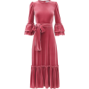 LUISA BECCARIA Tie-waist ruffled velvet - Dresses -