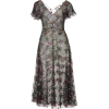 LUISA BECCARIA black floral embroidered - Dresses -