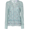 LUISA BECCARIA embroidered silk blouse - Shirts -