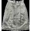 LUISA BECCARIA metallic skirt - Skirts -