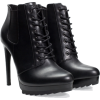 Lace-up high heeled bootie - Stivali -