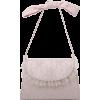 Lace Mesh Yarn Pearl Retro Bow Bag Nhru309115 - Messenger bags -