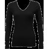 Ladies Black Long Sleeve Thermal Top V-Neck - Camisetas manga larga - $8.90  ~ 7.64€