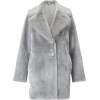 Large Collar Faux Fur Coat - Jacket - coats -