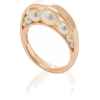 Lauren X Khoo Crescent 18K Rose Gold Pea - Rings -