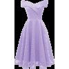 Lavender Lace Dress - Платья -