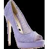 Lavender Lace Heels - Classic shoes & Pumps -